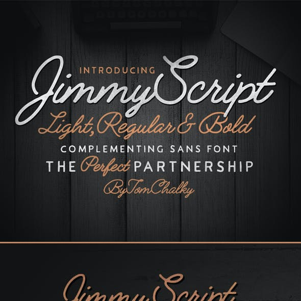 Jimmy Font Duo (5 Fonts!)