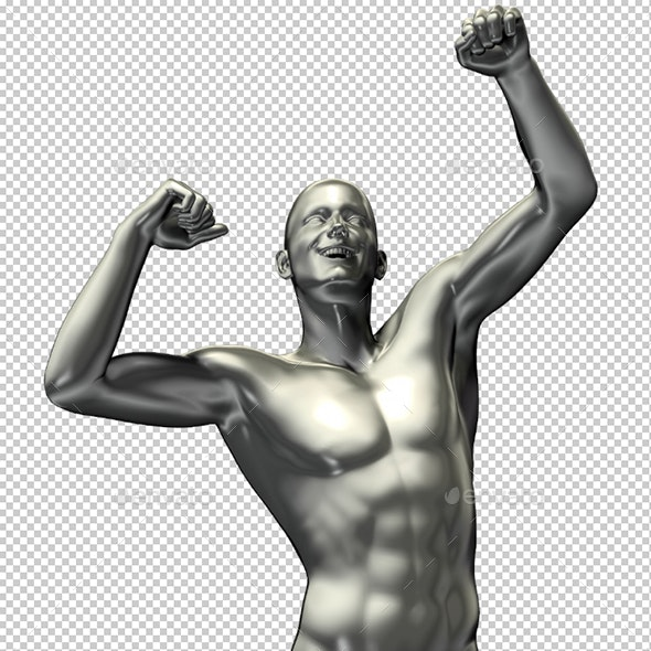 3D Rendered Man Illustration with Expression - Characters 3D Renders