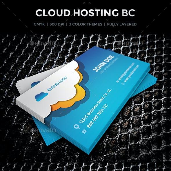 Cloud Hosting Business Card Design