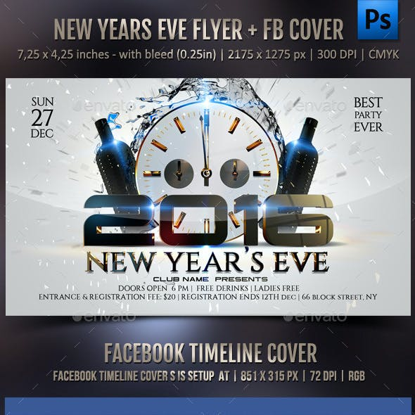 New Years Eve Flyer + FB Cover