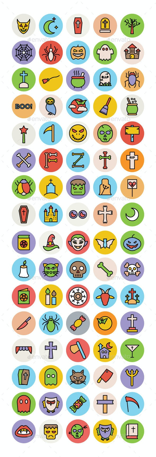 75+ Halloween Icons Set - Icons