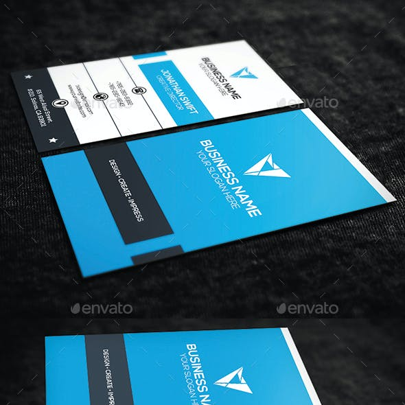 2 in 1 Corporate Business Card Bundle No.07