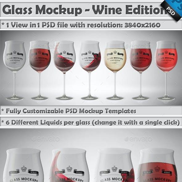 Glass Mockup - Wine Glass Mockup Volume 12
