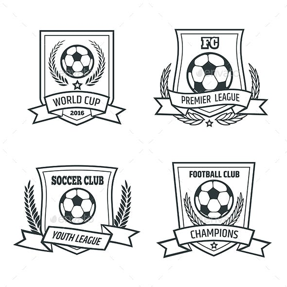 Soccer and Football Emblem Set