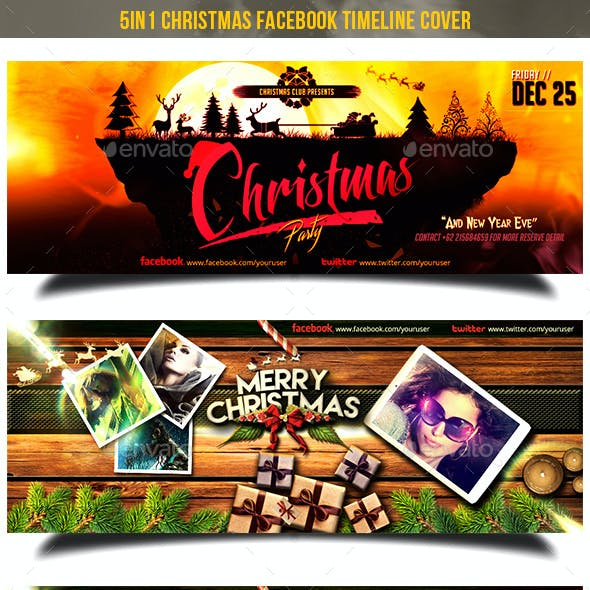 5in1 Christmas Facebook Cover