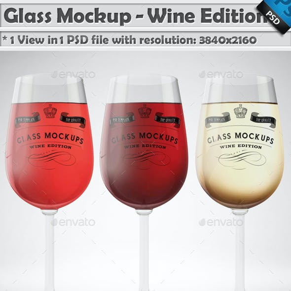 Glass Mockup - Wine Glass Mockup Volume 13