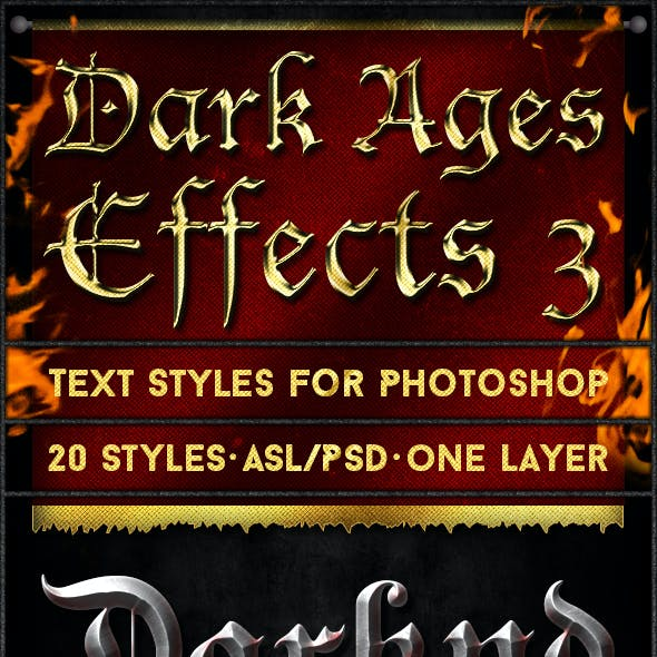 Dark Ages 3 - Text Styles