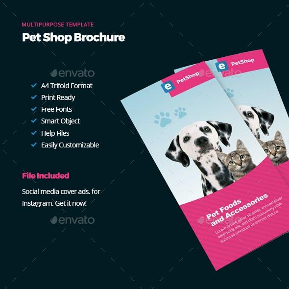 Pet Shop Trifold Brichure