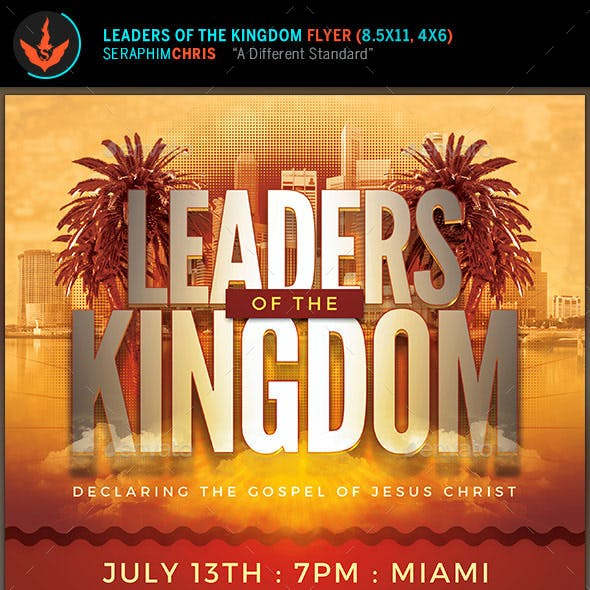 Leaders of the Kingdom: Church Flyer Template