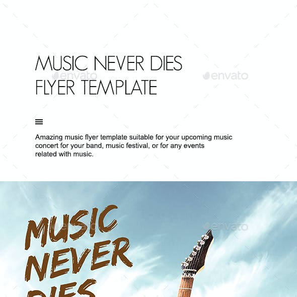 Music Never Dies Flyer Template