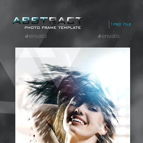 Abstract Photo Frame Template