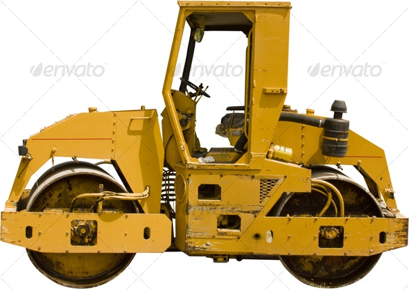 Road Roller - Industrial & Science Isolated Objects