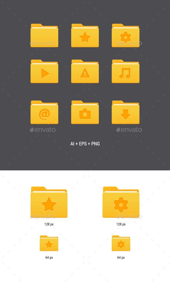 Yellow Folder Icons