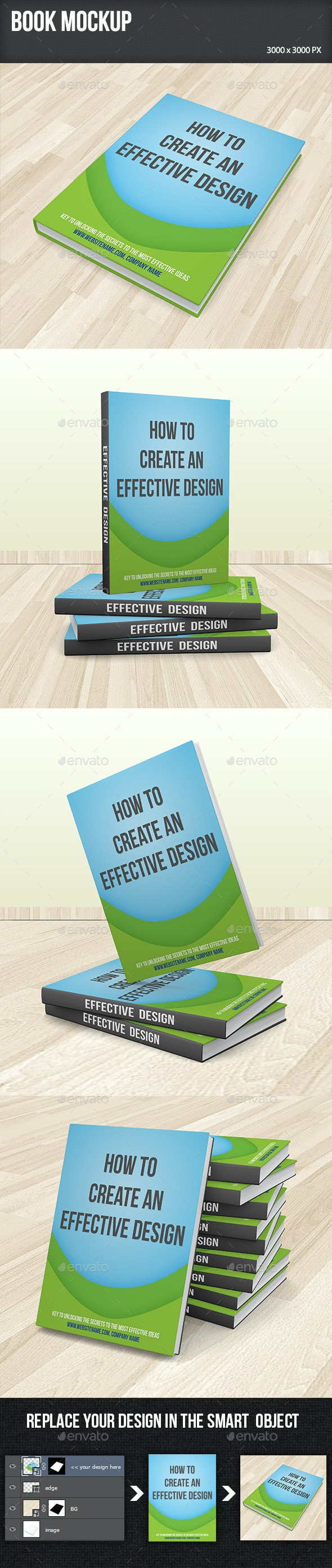Book Mockup - Product Mock-Ups Graphics