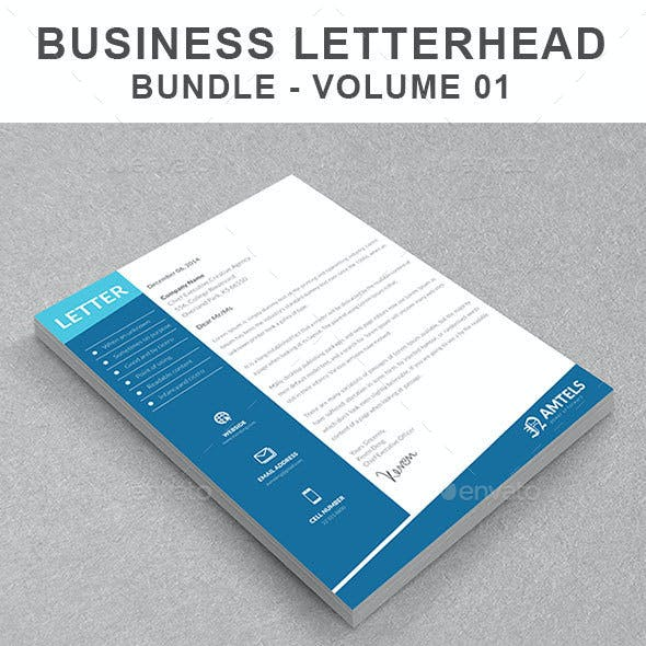 Business Letterhead Bundle | Volume 01
