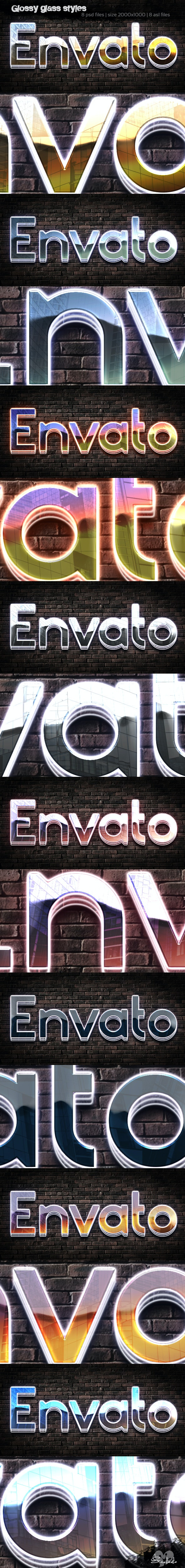 Glossy Glass 3D Style - Text Effects Styles