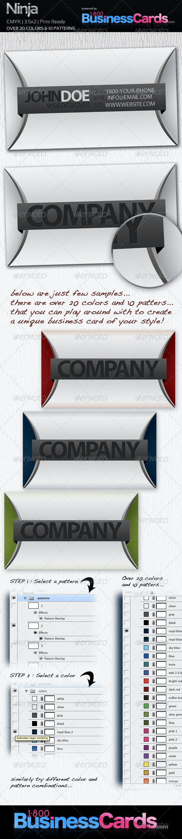 Ninja Business Card - Creative Business Cards
