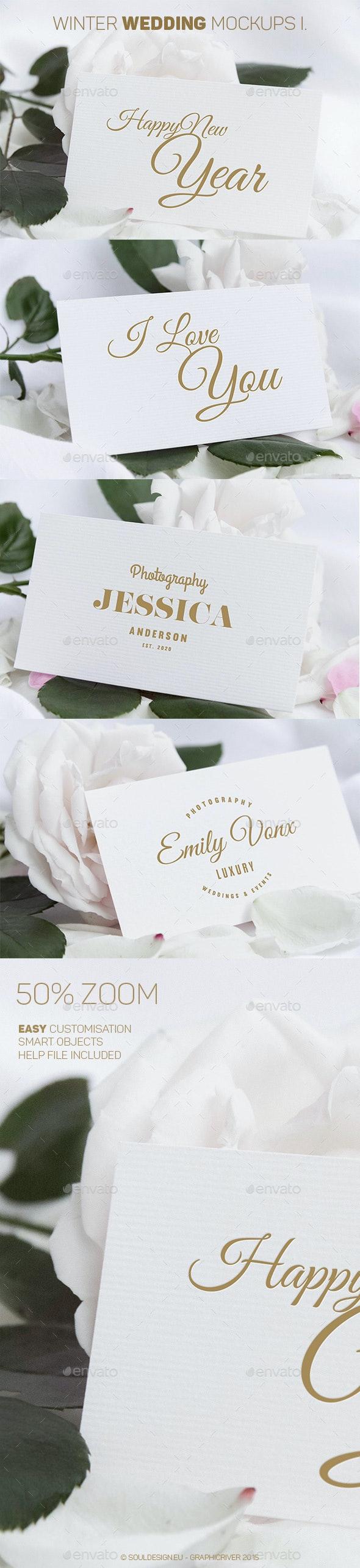 Winter Wedding Mockups I. - Miscellaneous Print