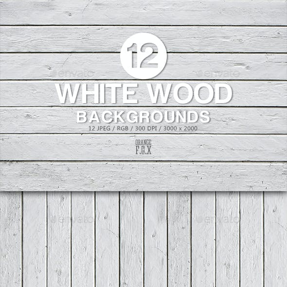 12 White Wood Backgrounds