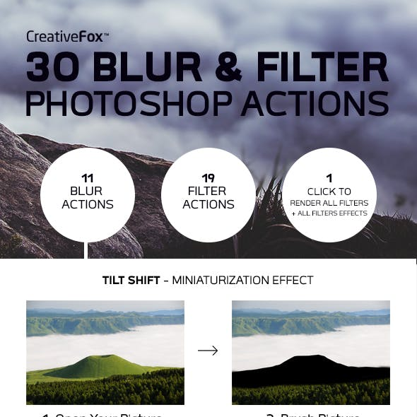 30 Blur & Filter Photoshop Actions