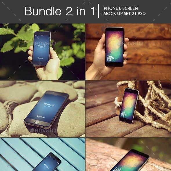 iPhone 6 Mockup Bundle 2 in 1