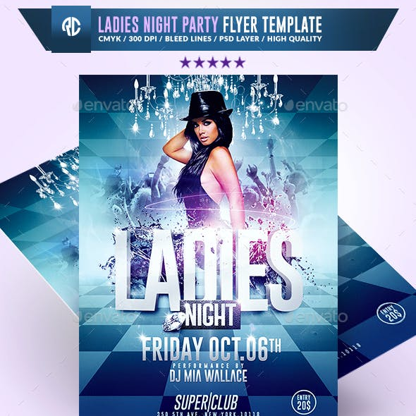 Ladies Night Sexy Party | Flyer Template