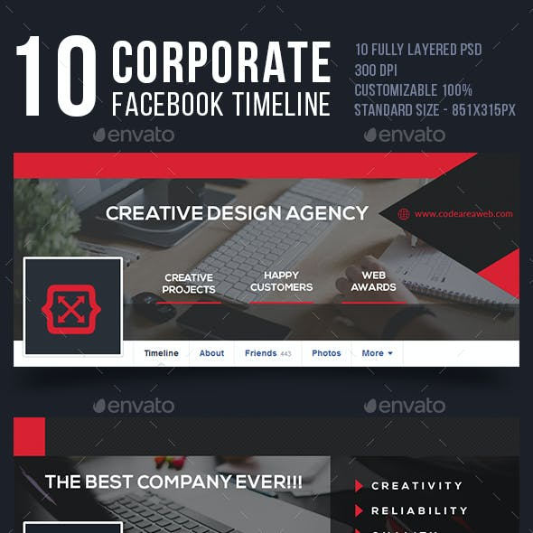 Corporate Facebook Timeline Bundle