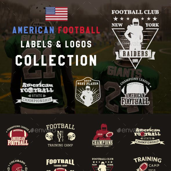 American Football Badges Collection