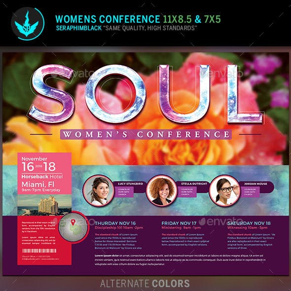 Soul: Women's Conference Flyer Template