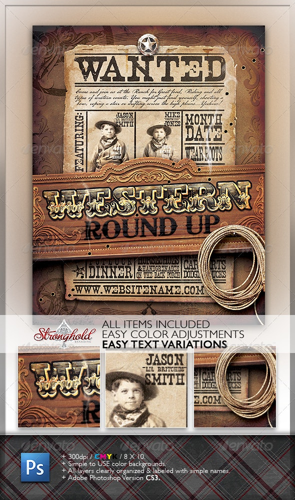 Wild West Event Flyer - Miscellaneous Events
