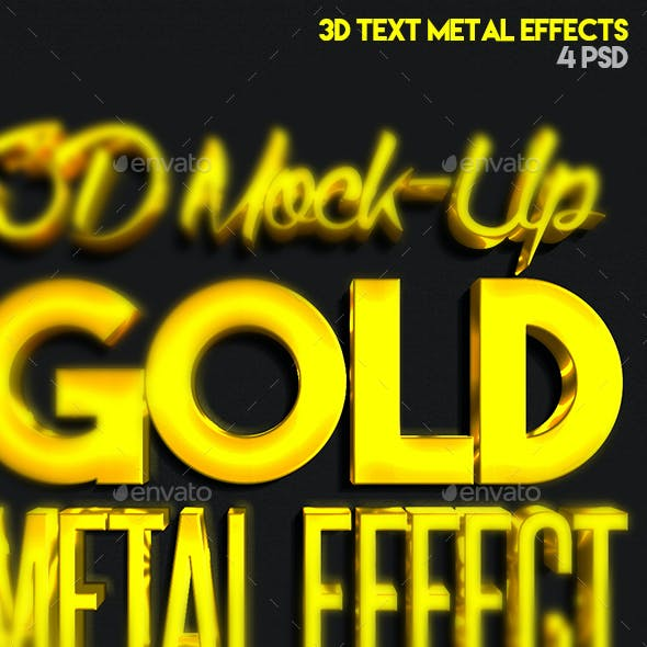 3D Metal Text Effect