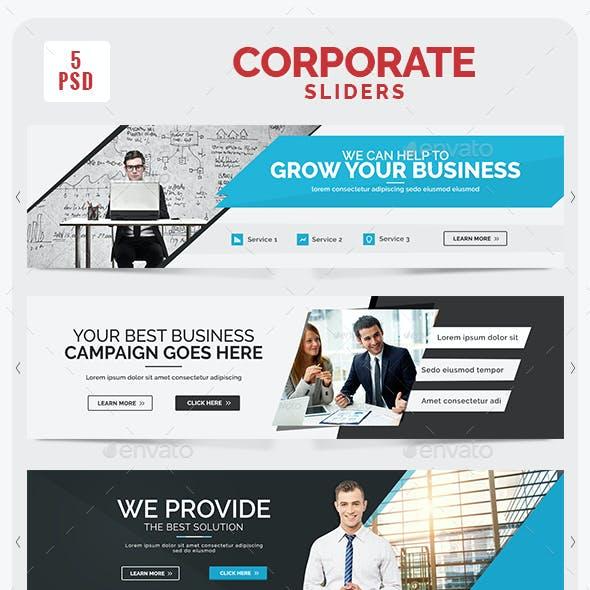 Corporate Sliders - 5 Designs