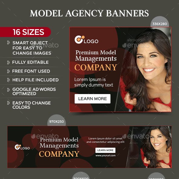 Model Agency Web Elements from GraphicRiver