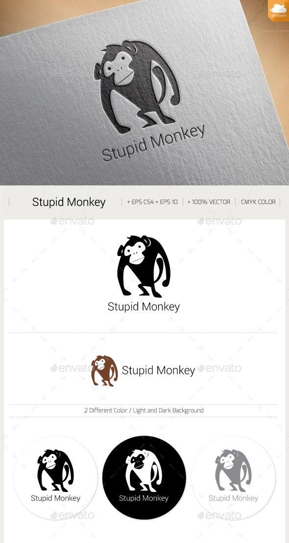 Stupid Monkey - Animals Logo Templates