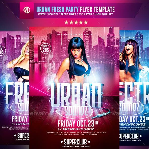 Urban Fresh Party | Psd Flyer Template