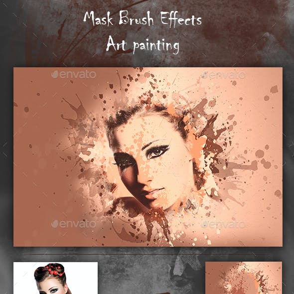 Artistic Brush Photo Frame