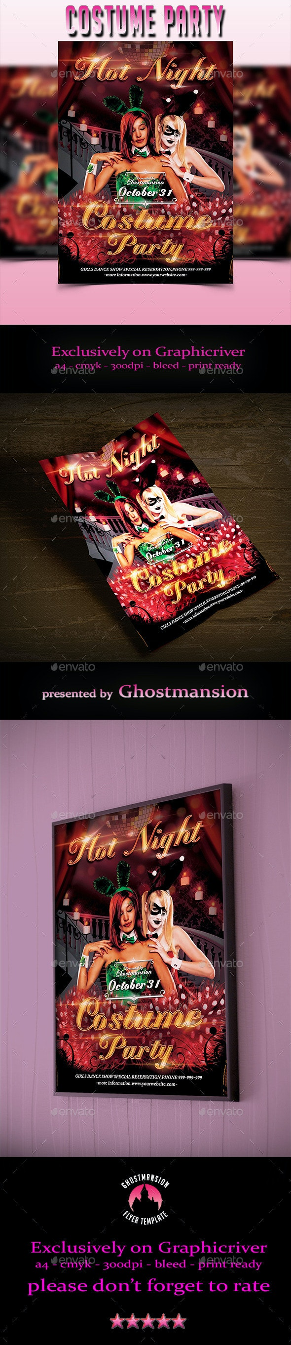 Costume Party Flyer Template V1 - Clubs & Parties Events