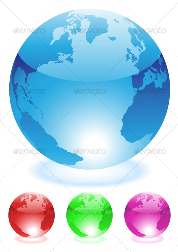 Globes - Travel Conceptual