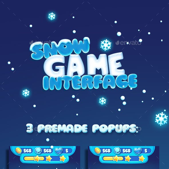 Christmas Snow Cartoon GUI
