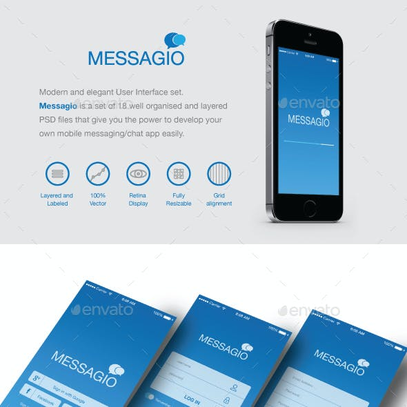 Messagio - Mobile User Interface Set