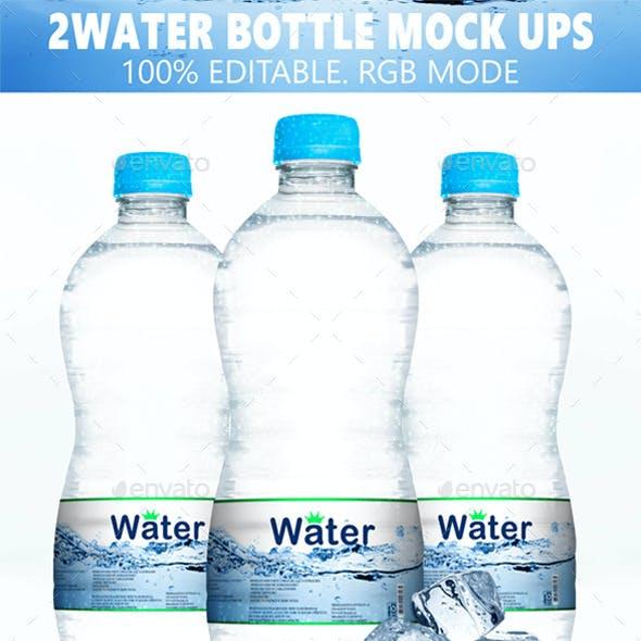 Water Bottle Mock-ups