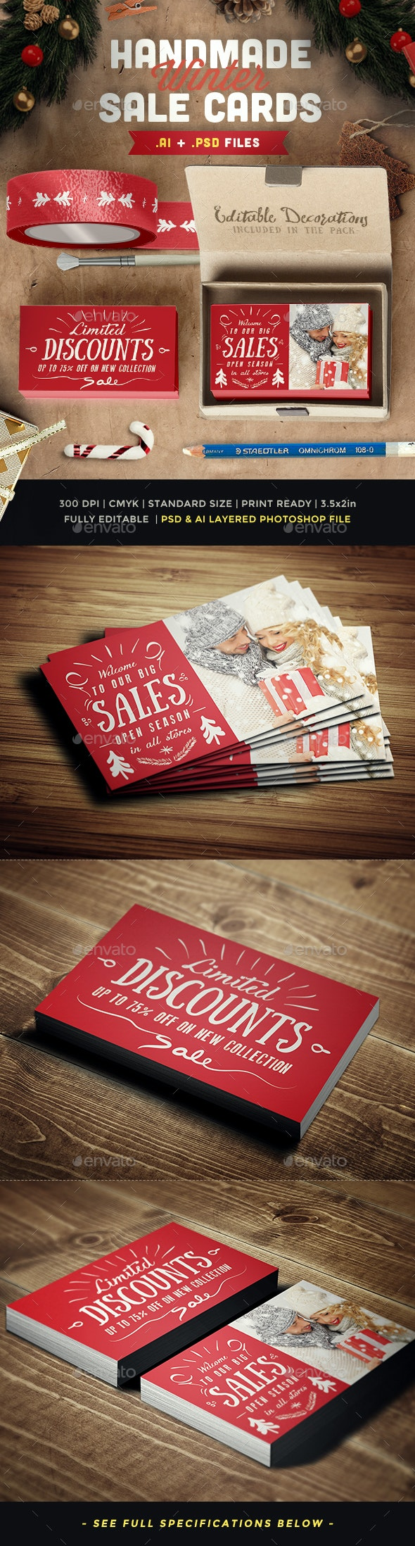 Winter Sales Card IV - Loyalty Cards Cards & Invites