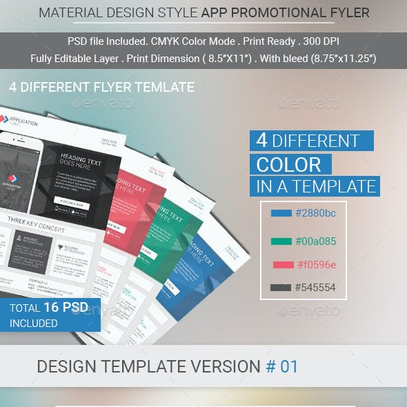 Material Design Mobile App Promotional Flyer