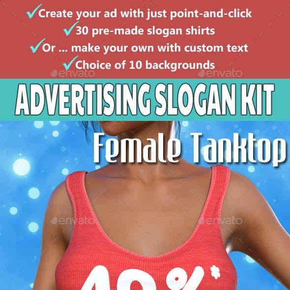 Advertising Slogan Kit - Female Tanktop