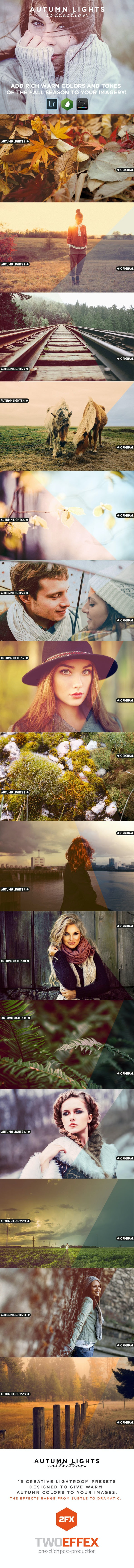 15 Autumn Lights - Lightroom Presets - Portrait Lightroom Presets