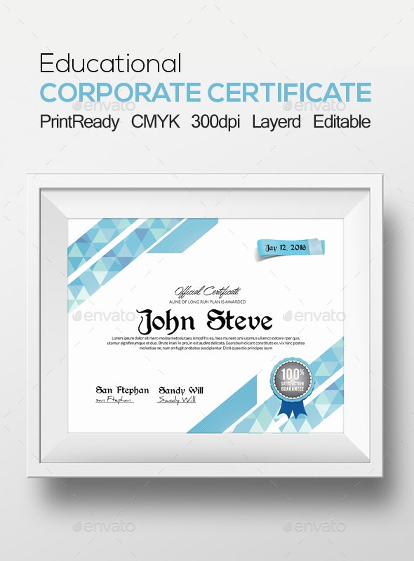 Certificate and Diploma Template - Certificates Stationery