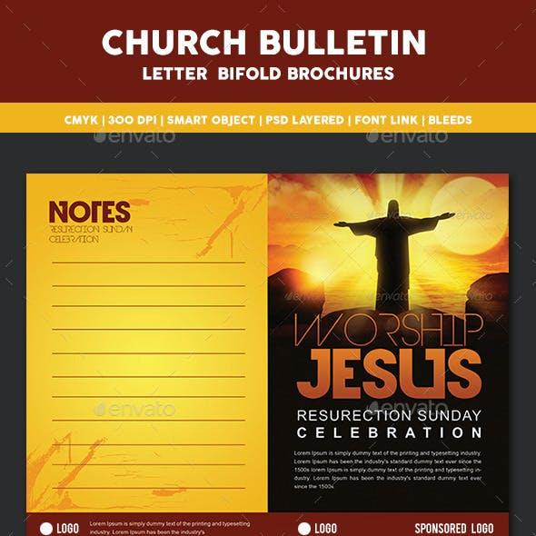 Church Bulletin Bi Fold Brochures