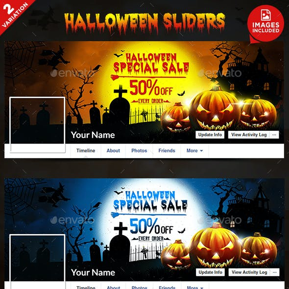 Halloween Facebook Covers - 2 Designs