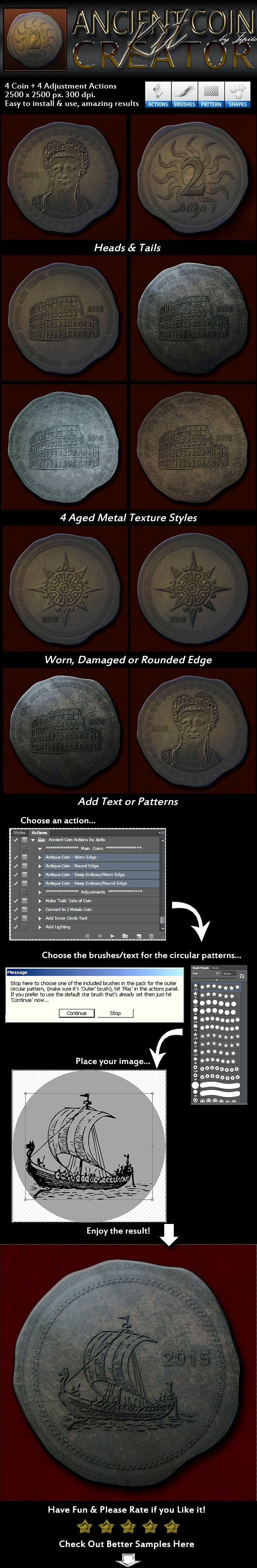 Ancient Coin Creator Kit - Utilities Actions