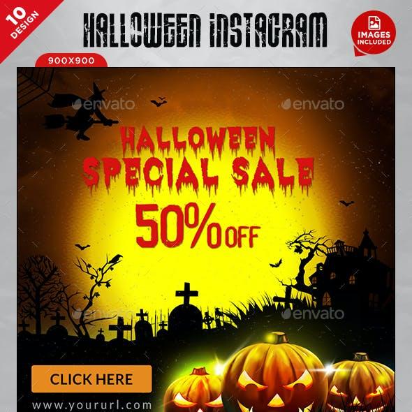 Halloween Instagram Templates - 10 Designs